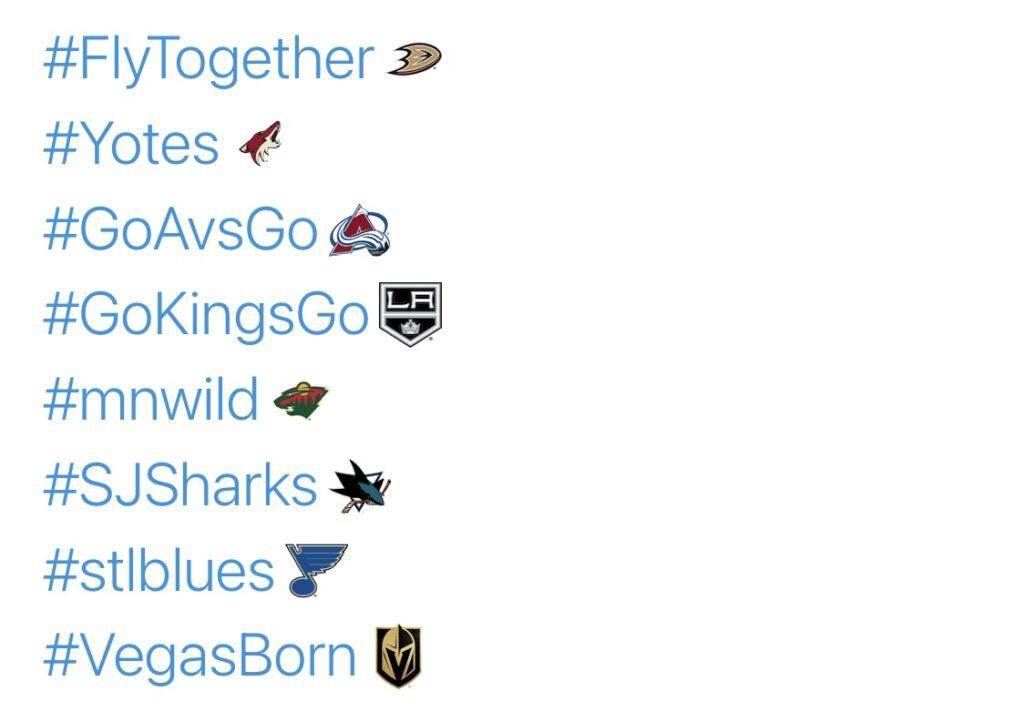 Mr. Always Write, NHL 2020-21 Season Hashtags