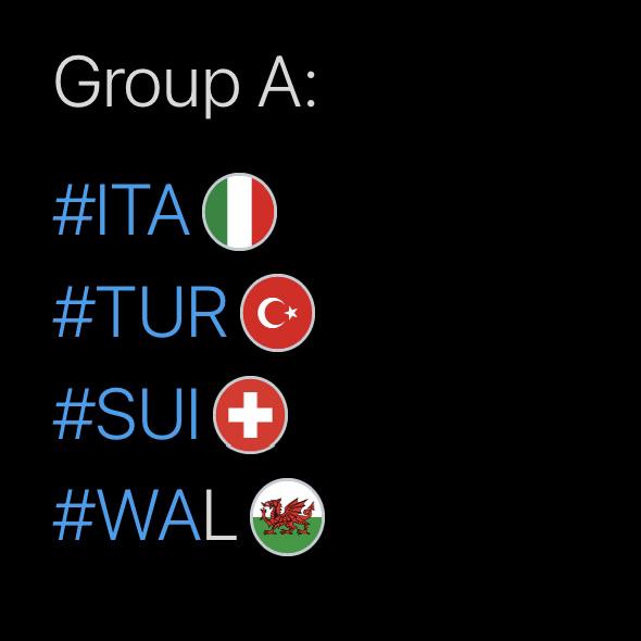 Group A, Hashtags