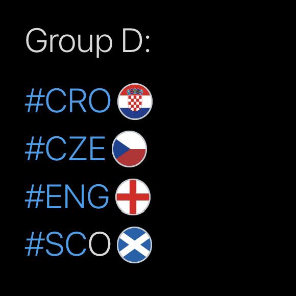 Group D, Hashtags