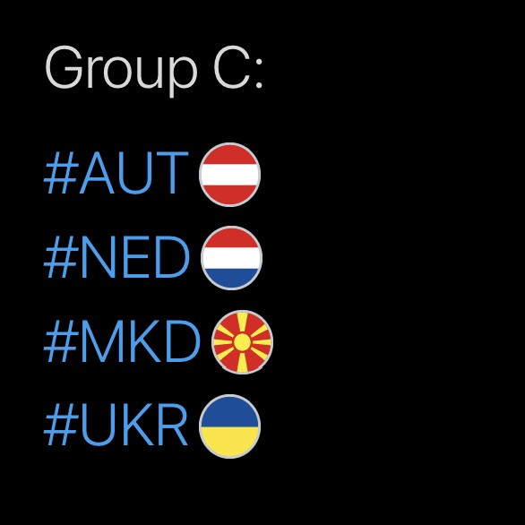 Group C, Hashtags