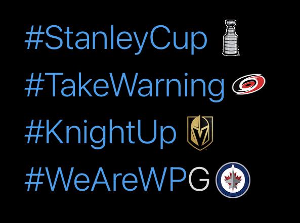 Mr. Always Write, 2021 Stanley Cup Playoffs Hashtags