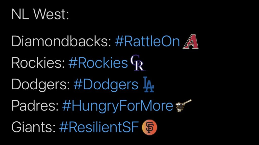 MLB, NL West
