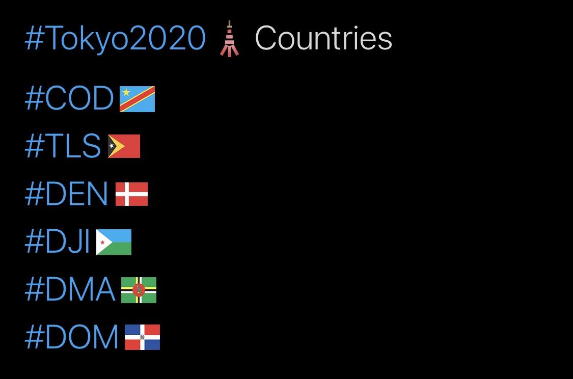 Tokyo 2020 Olympics Hashtags, D